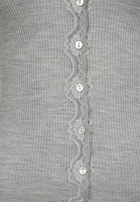 Rosemunde - SILK-MIX CARDIGAN REGULAR LS W/REV VINTAGE LACE - Strickjacke - grey melange - 5