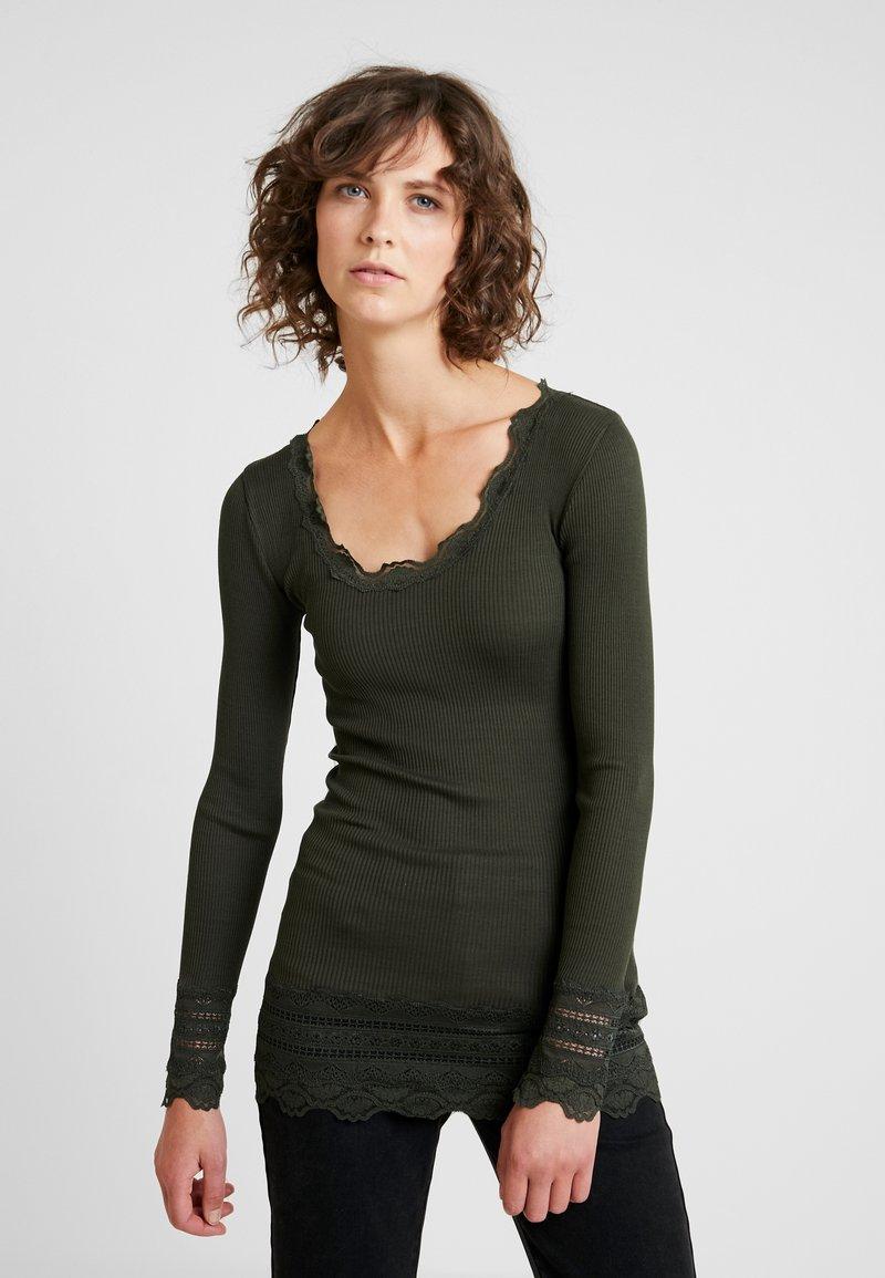 À Manches shirt Rosemunde Longues Green BenitaT OkiZPXTu