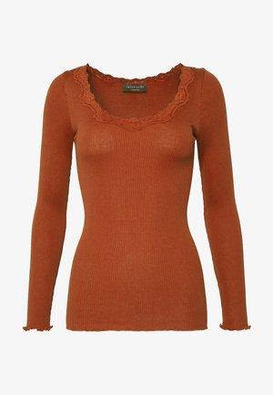 REGULAR VINTAGE - Bluzka z długim rękawem - red ochre