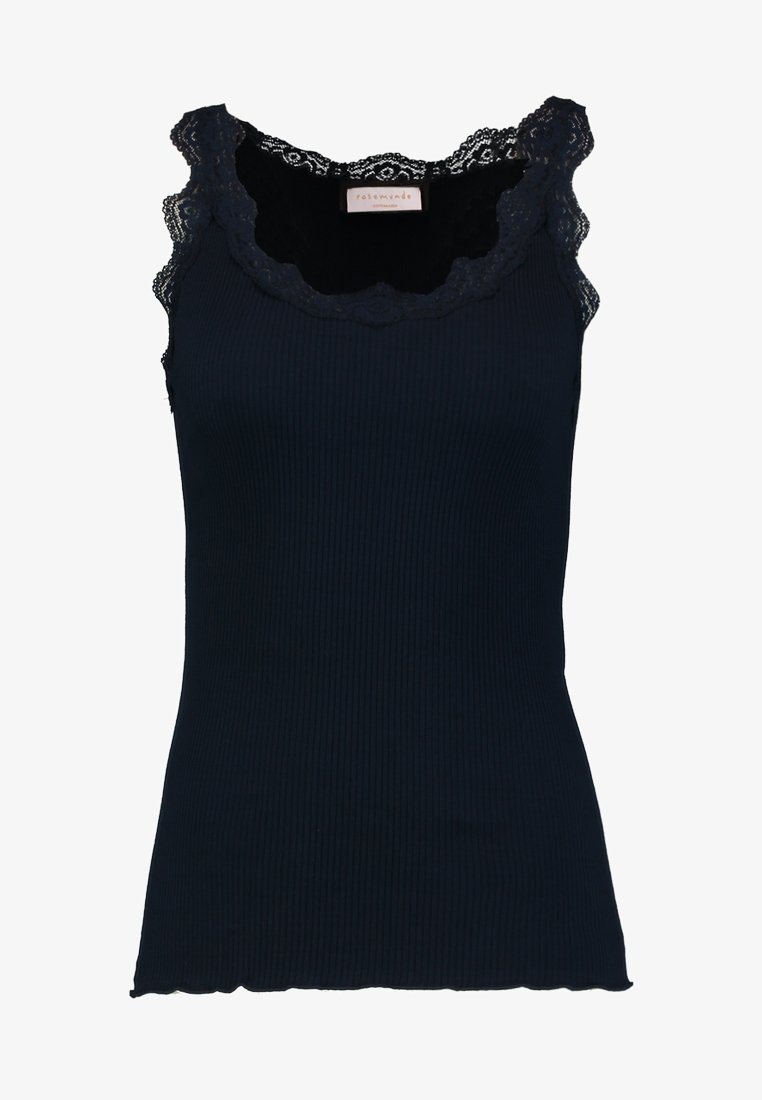Rosemunde ORGANIC TOP WITH LACE - Top - dark blue 3AGLeg vendita online