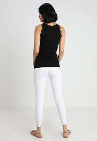 Rosemunde - ORGANIC TOP WITH LACE - Top - black - 2