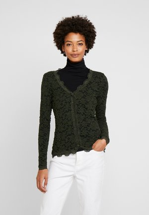 Cardigan - black green