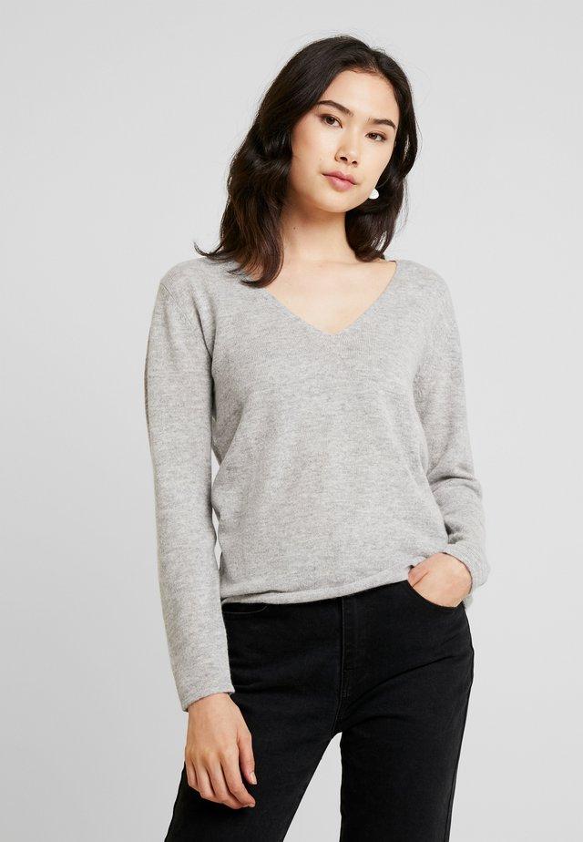 WOOL AND CASHMERE-MIX - Stickad tröja - light grey melange