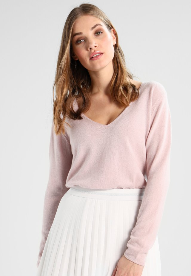 WOOL AND CASHMERE MIX - Sweter - vintage powder