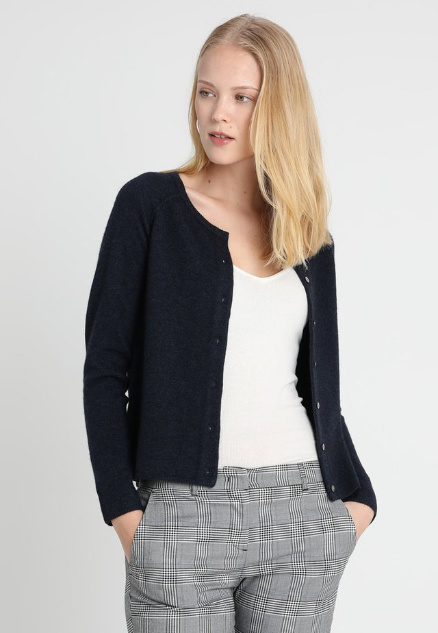 WOOL AND CASHMERE-MIX  - Kardigan - dark navy melange