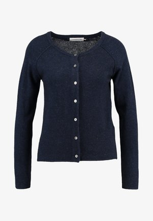 WOOL AND CASHMERE-MIX  - Cardigan - dark navy melange