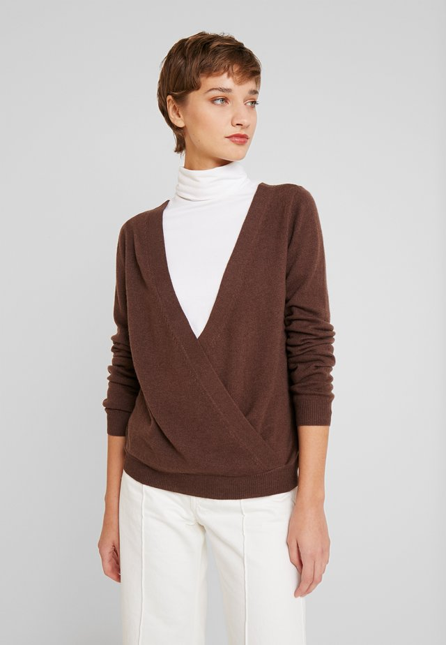 WOOL AND CASHMERE-MIX - Jersey de punto - chestnut