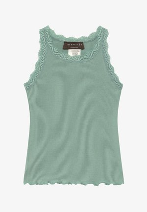 SILK-MIX TOP REGULAR W/LACE - Toppi - green lake
