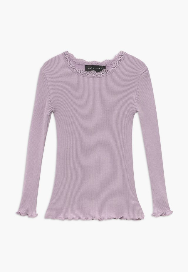 SILK-MIX T-SHIRT REGULAR LS W/LACE - Top s dlouhým rukávem - iris purple
