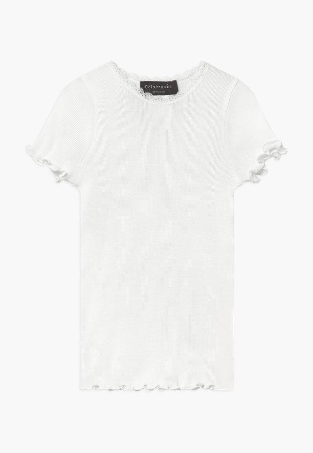 ORGANIC T-SHIRT REGULAR W/LACE - Jednoduché triko - new white