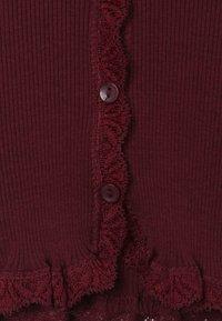 Rosemunde - SILK-MIX CARDIGAN REGULAR LS W/LACE - Cardigan - soft wine - 3
