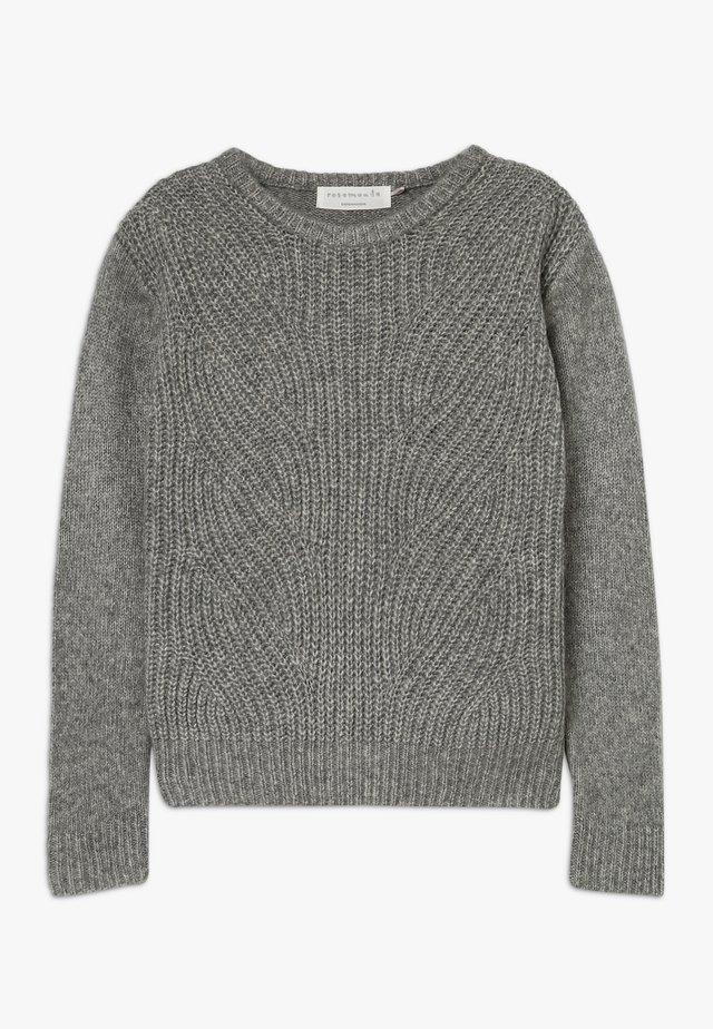 Strikkegenser - grey blend