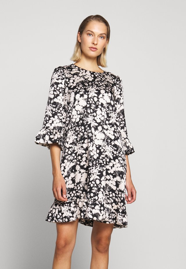 FEDERICA DRESS - Korte jurk - black/cream