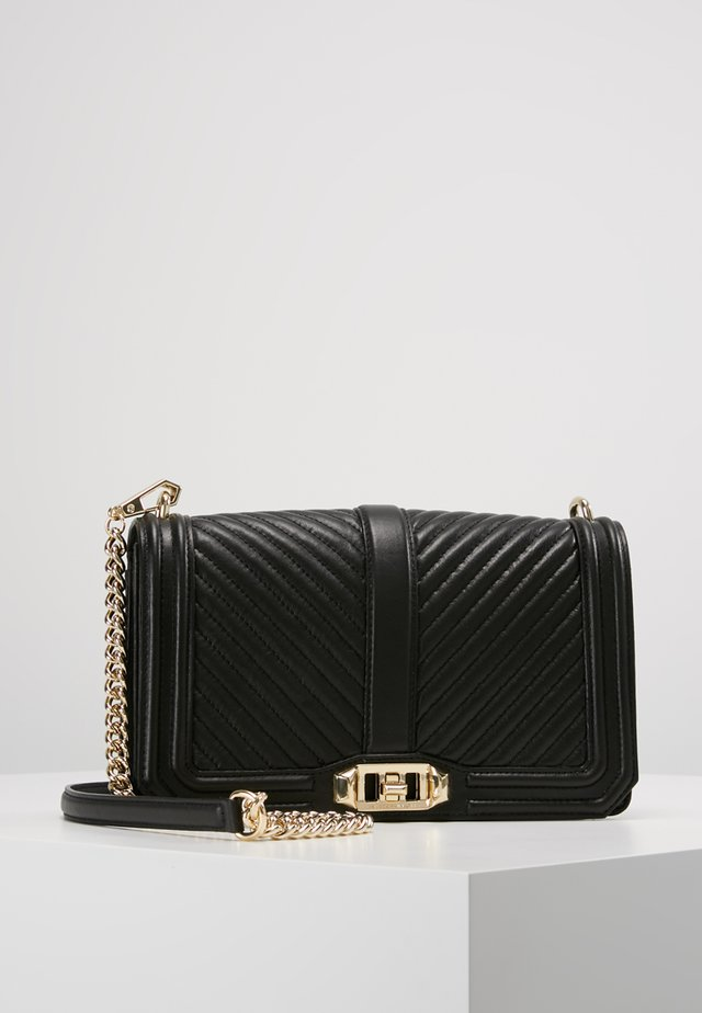 LOVE CROSSBODY - Olkalaukku - black