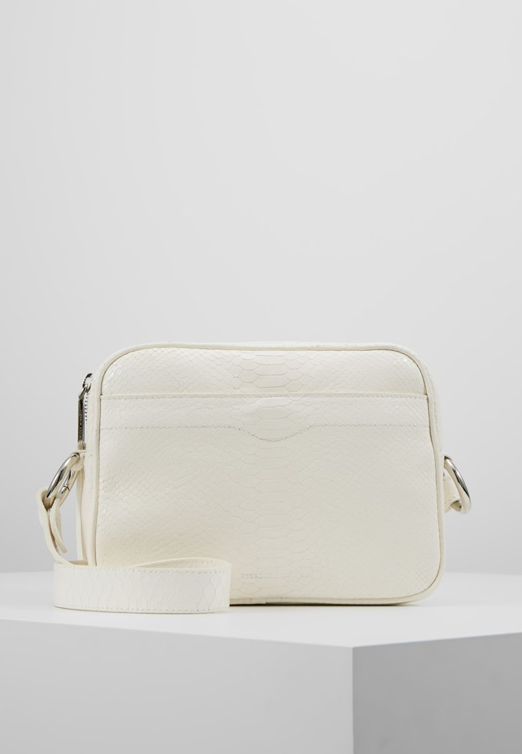 Rebecca Minkoff - BIG CAMERA BAG PYTHON - Sac bandoulière - white