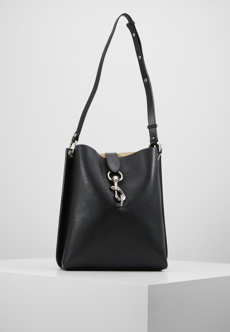 Rebecca Minkoff - MEGAN SHOULDER BAG PEBBLE - Handbag - black
