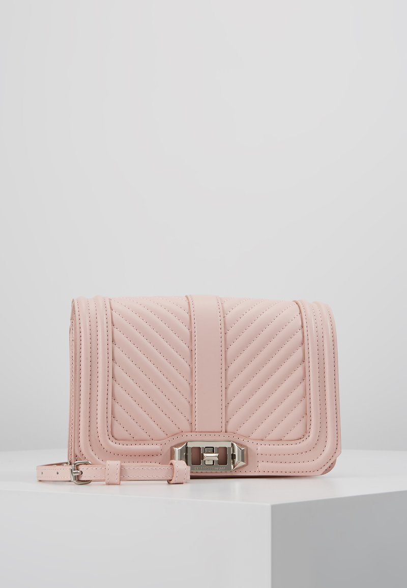 Rebecca Minkoff - SMALL LOVE CROSSBODY - Across body bag - rosewood