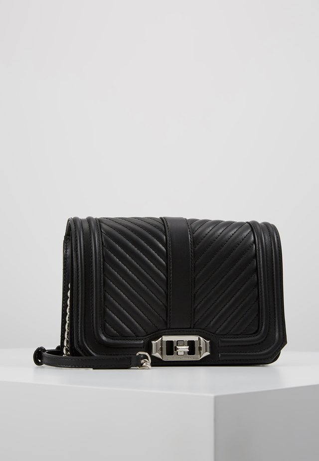 SMALL LOVE CROSSBODY - Axelremsväska - black