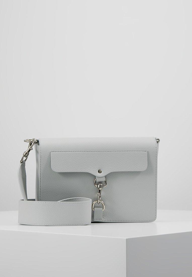 Rebecca Minkoff - MAB FLAP CROSSBODY PEBBLE - Handbag - ice blue