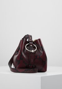 Rebecca Minkoff - MINI KATE BUCKET PYTHON - Handbag - pinot noir - 0