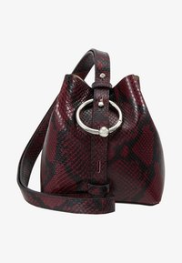 Rebecca Minkoff - MINI KATE BUCKET PYTHON - Handbag - pinot noir - 6