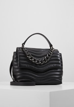 MAB QUILT TOP HANDLE SATCHEL - Håndtasker - black