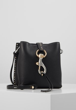 MEGAN MINI FEED BAG STUDS - Torba na ramię - black