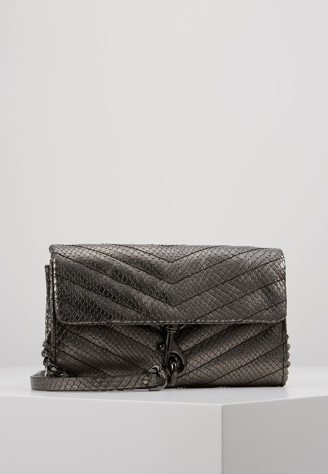 EDIE WALLET ON CHAIN - Clutch - anthracite
