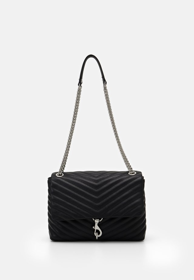 EDIE FLAP SHOULDER - Handbag - black