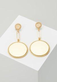 Rebecca Minkoff - DOUBLE MEDALLIAN DROP EARRING - Earrings - gold-coloured - 0