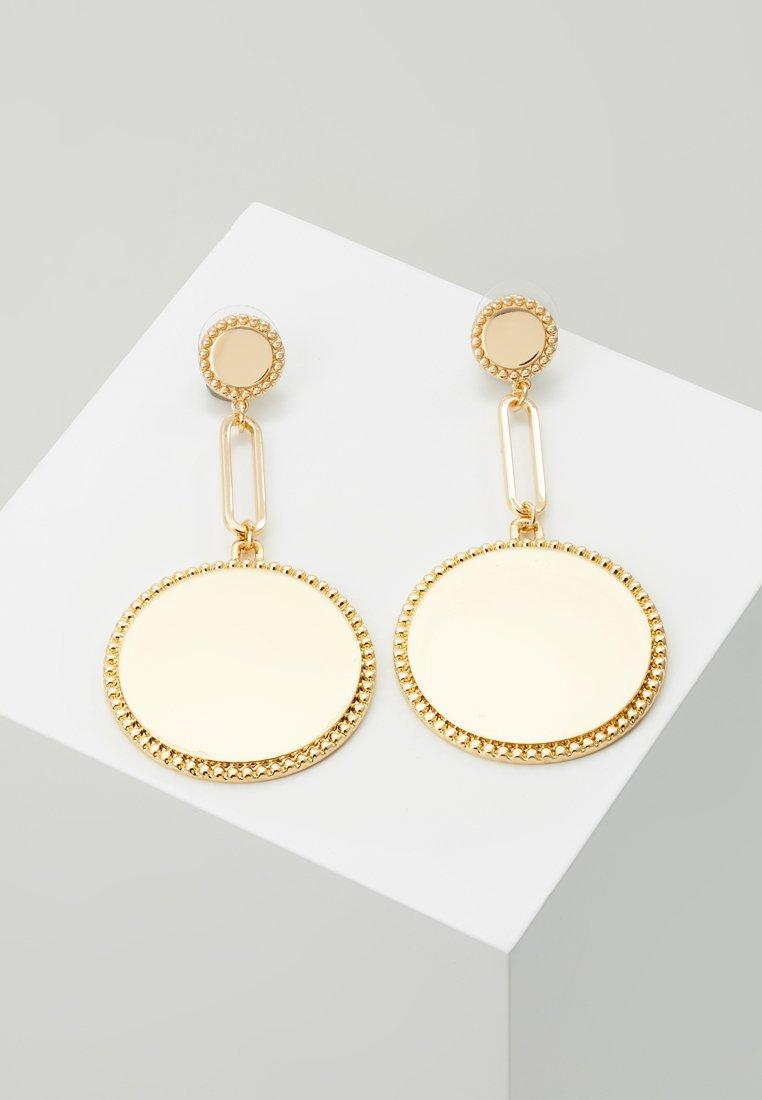 Rebecca Minkoff - DOUBLE MEDALLIAN DROP EARRING - Earrings - gold-coloured