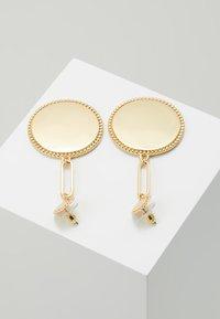 Rebecca Minkoff - DOUBLE MEDALLIAN DROP EARRING - Earrings - gold-coloured - 2