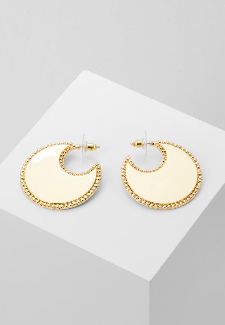 Rebecca Minkoff - BEAD EDGE POSTED HOOP - Earrings - gold-coloured