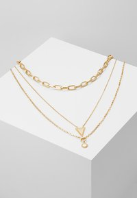 Rebecca Minkoff - BEAD EDGE MEDALLION LAYERED NECK - Necklace - gold-coloured - 0