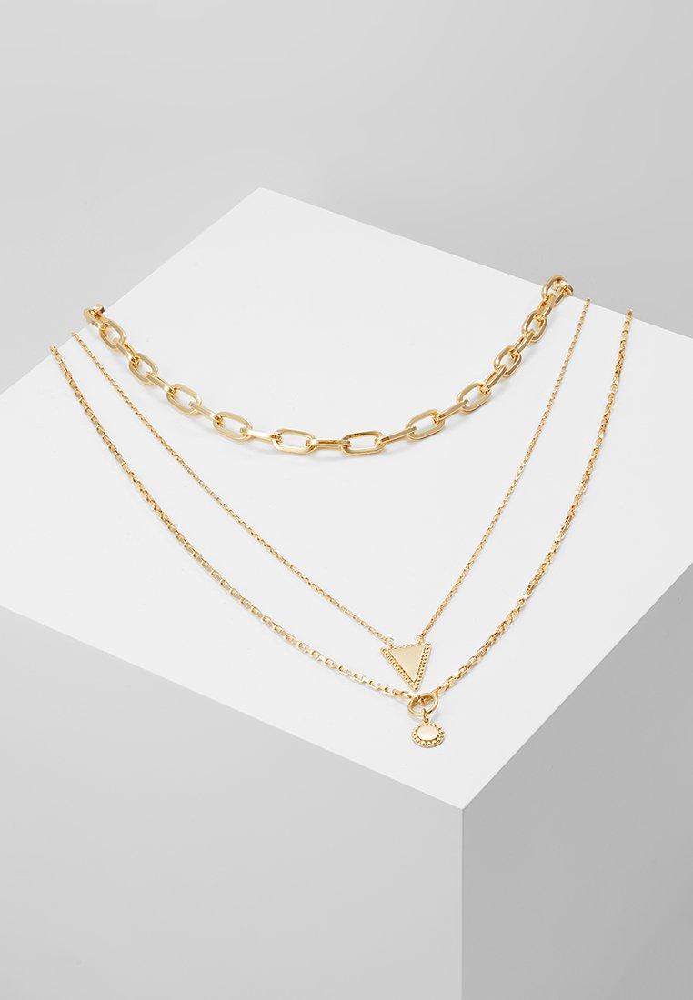 Rebecca Minkoff - BEAD EDGE MEDALLION LAYERED NECK - Necklace - gold-coloured