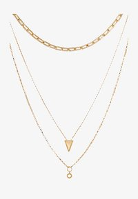 Rebecca Minkoff - BEAD EDGE MEDALLION LAYERED NECK - Necklace - gold-coloured - 3