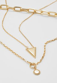 Rebecca Minkoff - BEAD EDGE MEDALLION LAYERED NECK - Necklace - gold-coloured - 4