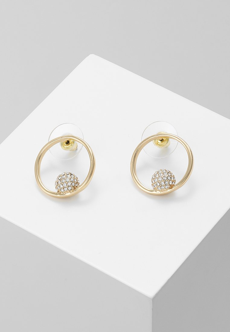 Rebecca Minkoff - PAVÉ SOLO BALL HOOPS - Boucles d'oreilles - gold-coloured