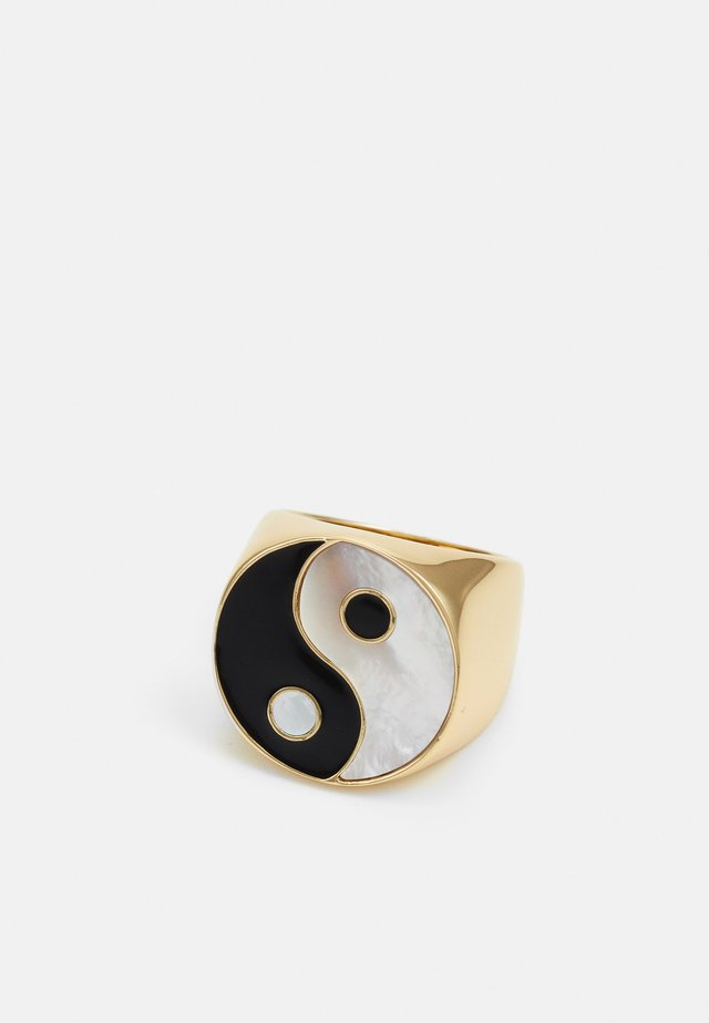 YIN YANG ADJUSTABLE SIGNET RING - Ring - gold-coloured