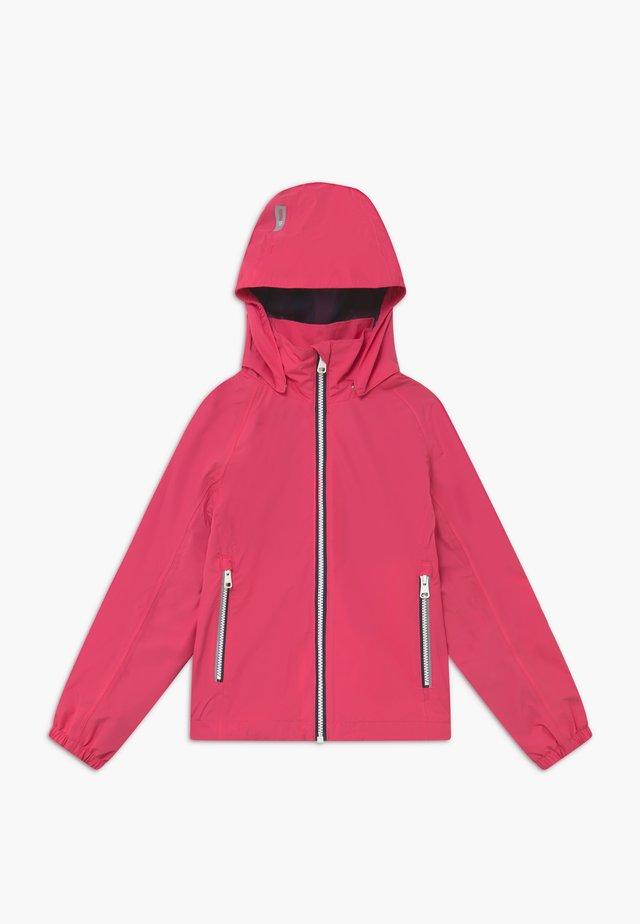 Vodotěsná bunda - berry pink