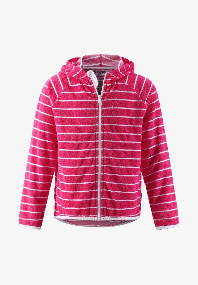 Zip-up hoodie - berry pink