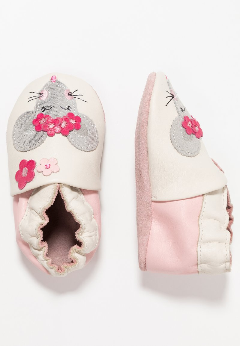 Robeez - HAPPY MOUSSE - First shoes - blanc casse