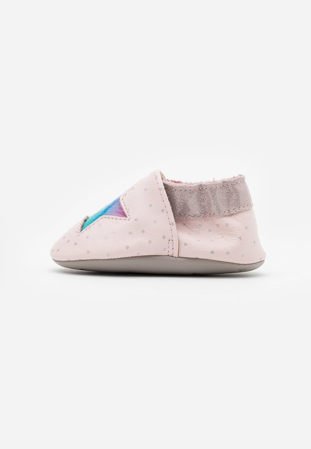 RAINBOW STAR - First shoes - rose argent
