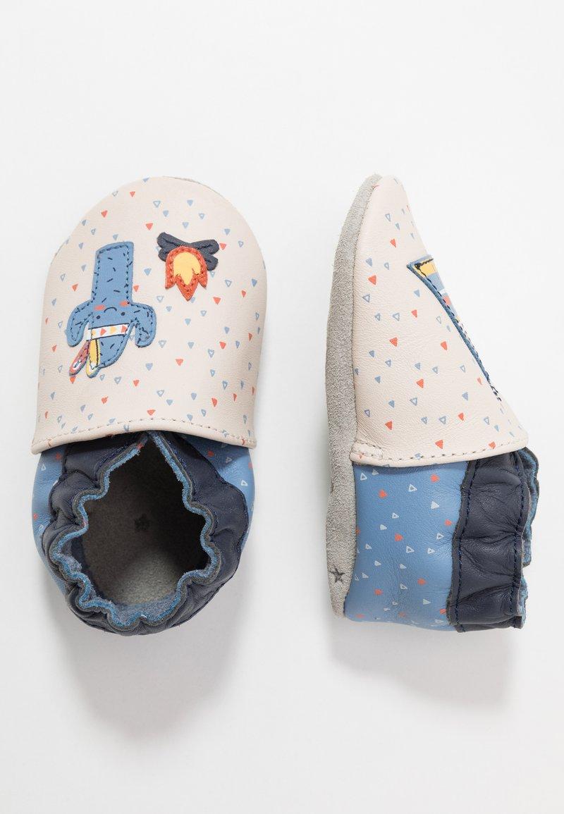 Robeez - TIPI - First shoes - beige/bleu