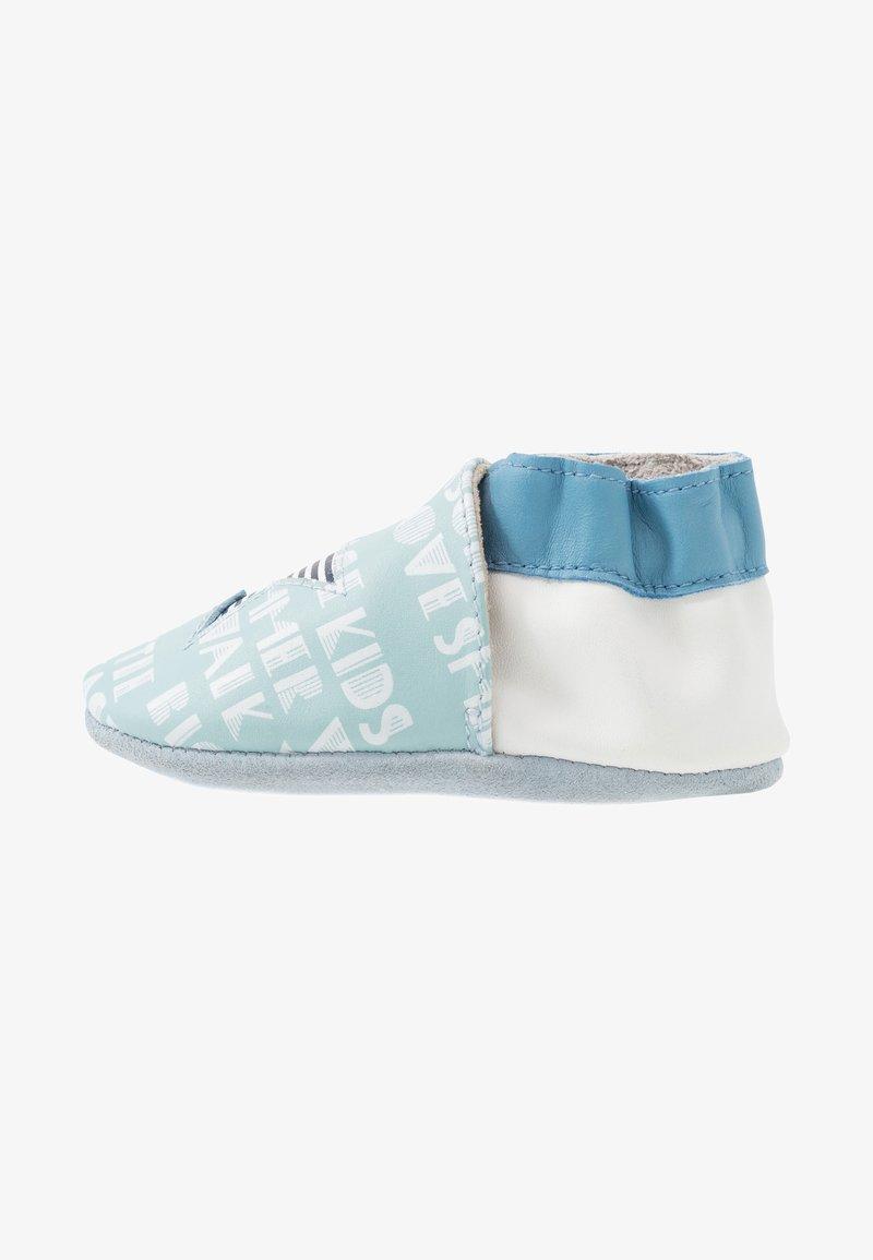 Robeez - PLAYSCHOOL - First shoes - bleu clair/blanc