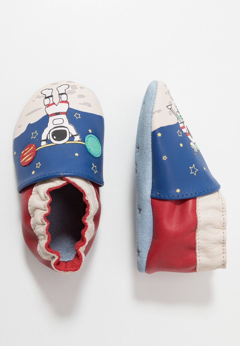 Robeez - MISTER SPACEMAN - First shoes - bleu fonce/klein rouge