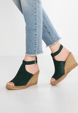 WAYFARER WEDGE - Sandaler med høye hæler - petrol/green