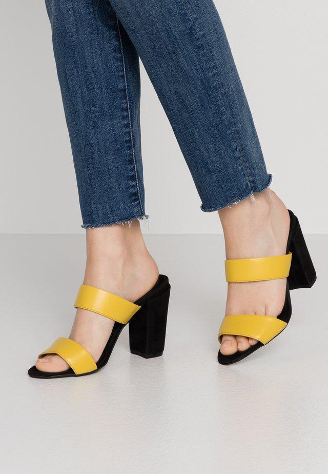 LIBERTY STRAP  - Heeled mules - yellow