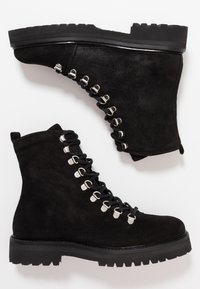 Royal RepubliQ - AVE HIKER OXFORD COMBAT BOOT - Lace-up ankle boots - black - 3