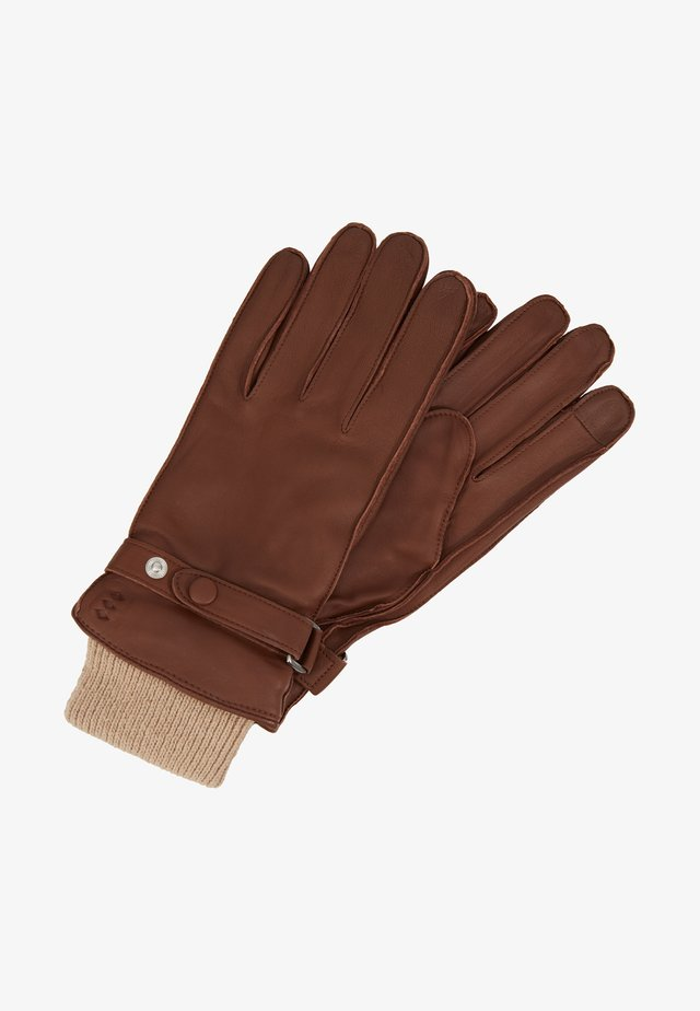 NANO RAW STRAP TOUCH GLOVES - Sormikkaat - cognac